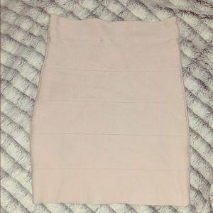 BCBGMAXAZRIA Nude Bandage Skirt